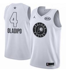 Mens Nike Jordan Indiana Pacers 4 Victor Oladipo Swingman White 2018 All Star Game NBA Jersey