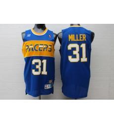 NBA Indiana Pacers 31 Reggie Miller New Rev30 Swingman Throwback Blue Jersey