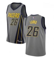 Pacers  26 Jeremy Lamb Gray Basketball Swingman City Edition 2018 19 Jersey