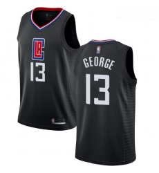 Clippers #13 Paul George Black Basketball Swingman Statement Edition Jersey