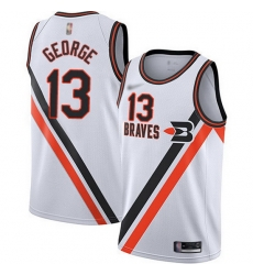 Clippers  13 Paul George White Basketball Swingman Hardwood Classics Jersey