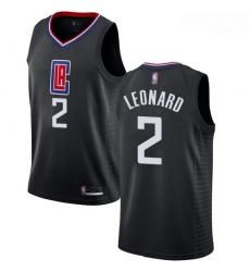 Clippers #2 Kawhi Leonard Black Basketball Swingman Statement Edition Jersey