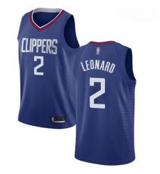Clippers #2 Kawhi Leonard Blue Basketball Swingman Icon Edition Jersey