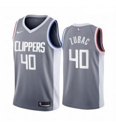 Men Los Angeles Clippers 40 Ivica Zubac Gray NBA Swingman 2020 21 Earned Edition Jersey
