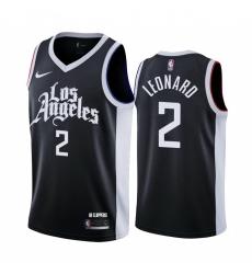 Men Nike Los Angeles Clippers 2 Kawhi Leonard Black NBA Swingman 2020 21 City Edition Jersey