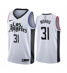 Men Nike Los Angeles Clippers 31 Marcus Morris 2019 20 White Los Angeles City Edition NBA Jersey