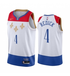 Men Nike New Orleans Pelicans 4 JJ Redick White NBA Swingman 2020 21 City Edition Jersey
