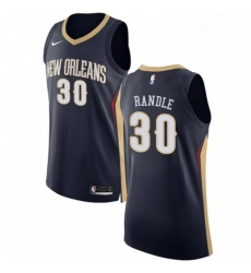 Mens Nike New Orleans Pelicans 30 Julius Randle Authentic Navy Blue NBA Jersey Icon Edition