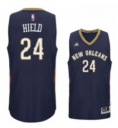 New Orleans Pelicans 24 Buddy Heild 2016 Road Navy New Swingman Jersey