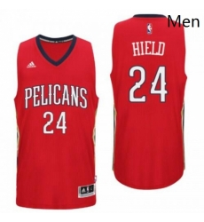 New Orleans Pelicans 24 Buddy Heild Alternate Red New Swingman Jersey