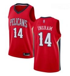 Pelicans #14 Brandon Ingram Red Basketball Swingman Statement Edition Jersey