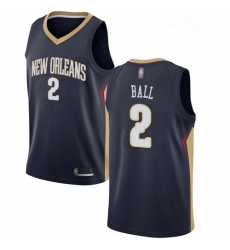 Pelicans #2 Lonzo Ball Navy Basketball Swingman Icon Edition Jersey