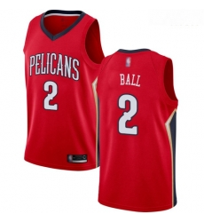 Pelicans #2 Lonzo Ball Red Basketball Swingman Statement Edition Jersey