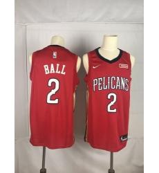 Pelicans 2 Lonzo Ball Red Nike Swingman Jersey