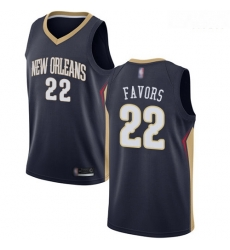 Pelicans #22 Derrick Favors Navy Basketball Swingman Icon Edition Jersey