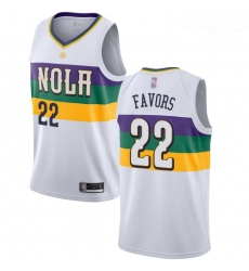 Pelicans #22 Derrick Favors White Basketball Swingman City Edition 2018 19 Jersey