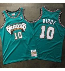 Grizzlies 10 Mike Bibby Teal 1998 99 Hardwood Classics Jersey