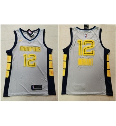 Grizzlies 12 Ja Morant Gray Nike Swingman Jersey