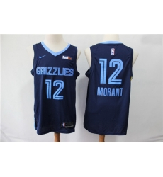 Grizzlies 12 Ja Morant Navy City Edition Nike Swingman Jersey