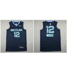 Grizzlies 12 Ja Morant Navy Nike Authentic Jersey