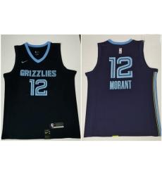 Grizzlies 12 Ja Morant Navy Nike Swingman Jersey 2