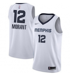 Grizzlies 12 Ja Morant White Basketball Swingman Association Edition Jersey