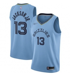 Grizzlies 13 Jaren Jackson Jr  Light Blue Basketball Swingman Statement Edition Jersey