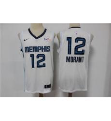 Men Memphis Grizzlies 12 Ja Morant White 2019 Nike Swingman