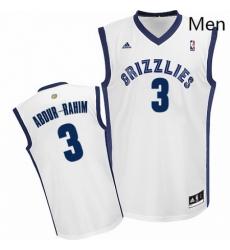 Mens Adidas Memphis Grizzlies 3 Shareef Abdur Rahim Swingman White Home NBA Jersey