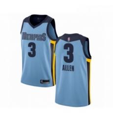 Mens Memphis Grizzlies 3 Grayson Allen Authentic Light Blue Basketball Jersey Statement Edition