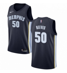 Mens Nike Memphis Grizzlies 50 Bryant Reeves Swingman Navy Blue Road NBA Jersey Icon Edition