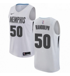 Mens Nike Memphis Grizzlies 50 Zach Randolph Authentic White NBA Jersey City Edition