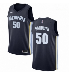 Mens Nike Memphis Grizzlies 50 Zach Randolph Swingman Navy Blue Road NBA Jersey Icon Edition