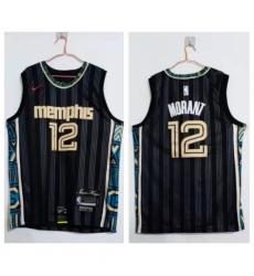 Youth Memphis Grizzlies Ja Morant Black 2020 21 City Edition Nike Swingman Jersey