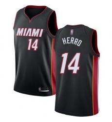 Heat  14 Tyler Herro Black Basketball Swingman Icon Edition Jersey