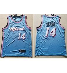 Heat 14 Tyler Herro Light Blue Nike City Edition Swingman Jersey