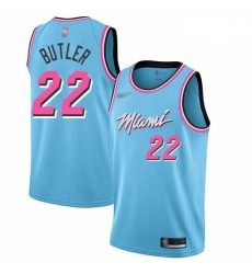 Heat 22 Jimmy Butler Blue Basketball Swingman City Edition 2019 20 Jersey