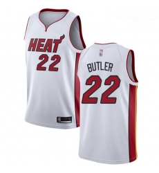 Heat #22 Jimmy Butler White Basketball Swingman Association Edition Jersey