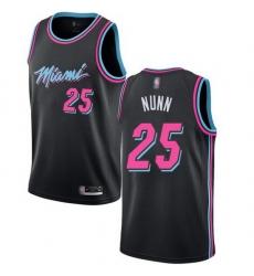 Heat  25 Kendrick Nunn Black Basketball Swingman City Edition 2018 19 Jersey