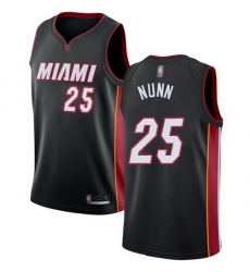 Heat  25 Kendrick Nunn Black Basketball Swingman Icon Edition Jersey
