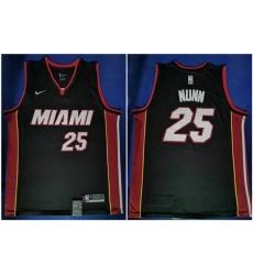 Heat 25 Kendrick Nunn Black Nike Swingman JerseyS