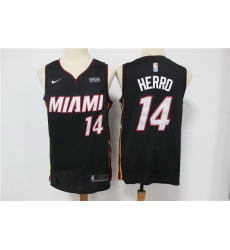 Men Miami Heat 14 Tyler Herro Black Nike Swingman Jersey
