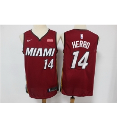 Men Miami Heat 14 Tyler Herro Red Nike Swingman Jersey