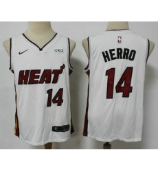 Men Miami Heat 14 Tyler Herro White 2021 Nike Swingman Stitched NBA Jersey With The NEW Sponsor Logo