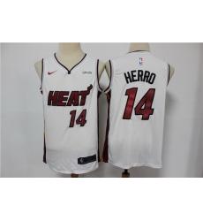 Men Miami Heat 14 Tyler Herro White Nike Swingman Jersey