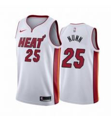 Men Miami Heat 25 Kendrick Nunn Red Statement White Jersey