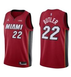 Men Miami Heat Jimmy Butler Jordan Brand Statement Red Swingman Jersey
