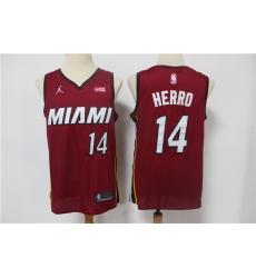 Men Miami Heat Tyler Herro 14 Red 2021 Jordan Brand Swingman Jersey