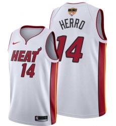 Men's Miami Heat #14 Tyler Herro White 2020 Finals Bound Association Edition Stitched NBA Jersey