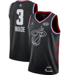 Men's Miami Heat Dwyane Wade Jordan Brand Black 2019 NBA Jersey